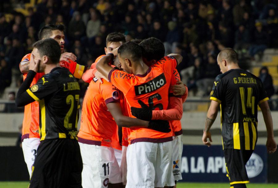 Atlético bateu o Peñarol por 4 a 1 no jogo de volta em Montevidéu, pela Sul-Americana. Foto: Enzo Santos/ Estadão Conteúdo