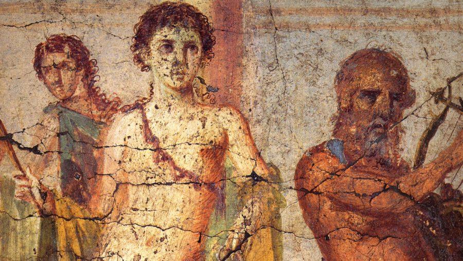 Hermafroditos - afresco em casa romana
