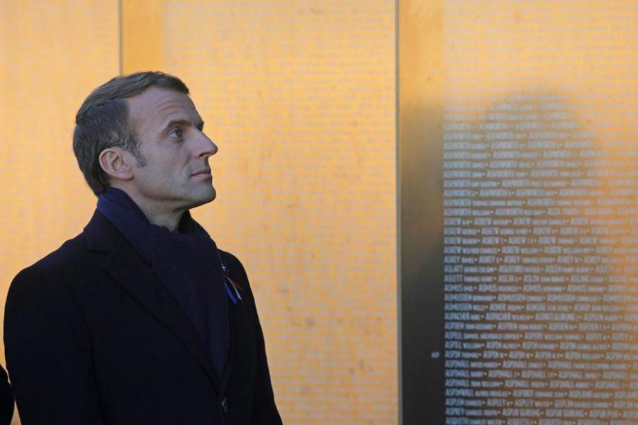 O presidente da França, Emmanuel Macron, visita o