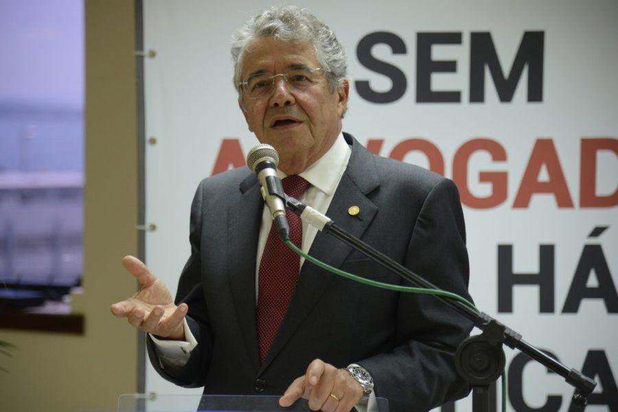 Rio de Janeiro - O ministro do STF, Marco Aurélio Mello fala durante o 15º Colóquio da Academia Brasileira do Trabalho na OAB/RJ. (Tomaz Silva/Agência Brasil)