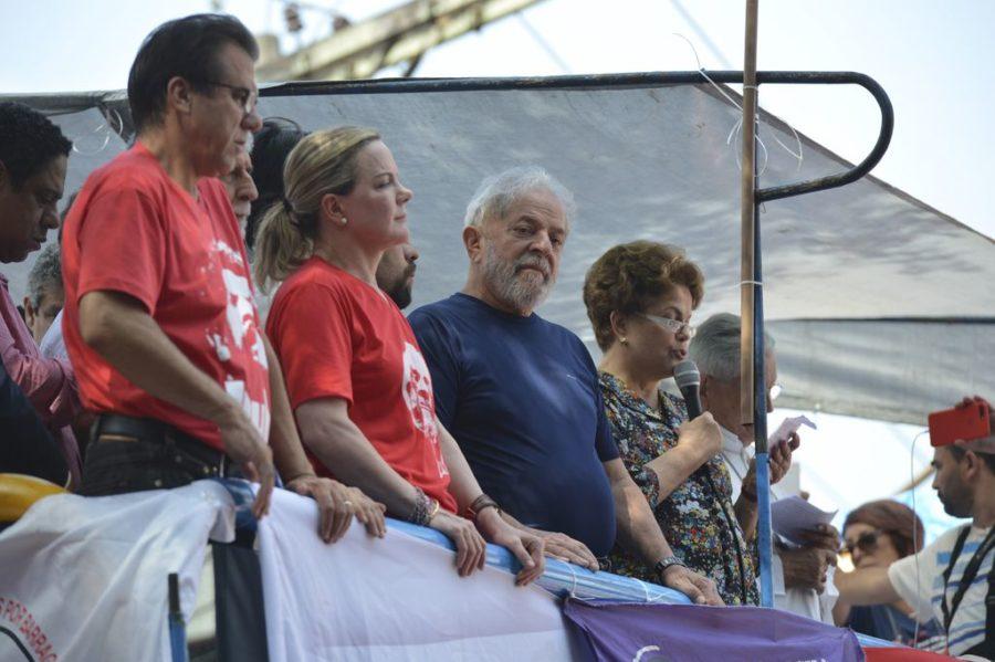 São Bernardo do Campo (SP) - Discurso de Lula no Sindicato dos Metalúrgicos do ABC.