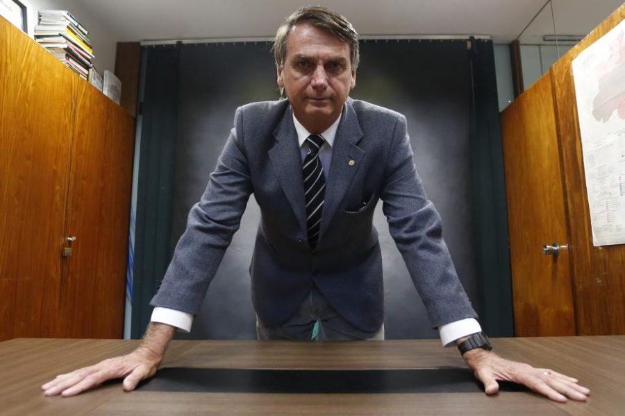 O presidente da República eleito para a gestão 2019-2022 Jair Bolsonaro  (PSL) 584893e85067c