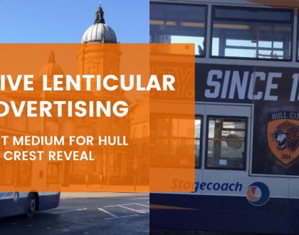 Lenticular bus advertising