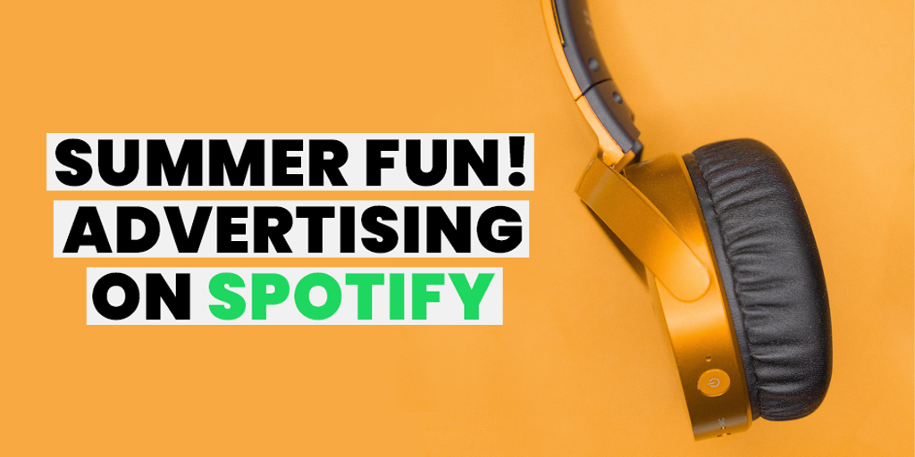 image of a headphone with the title summer fun, advertising on Spotify
