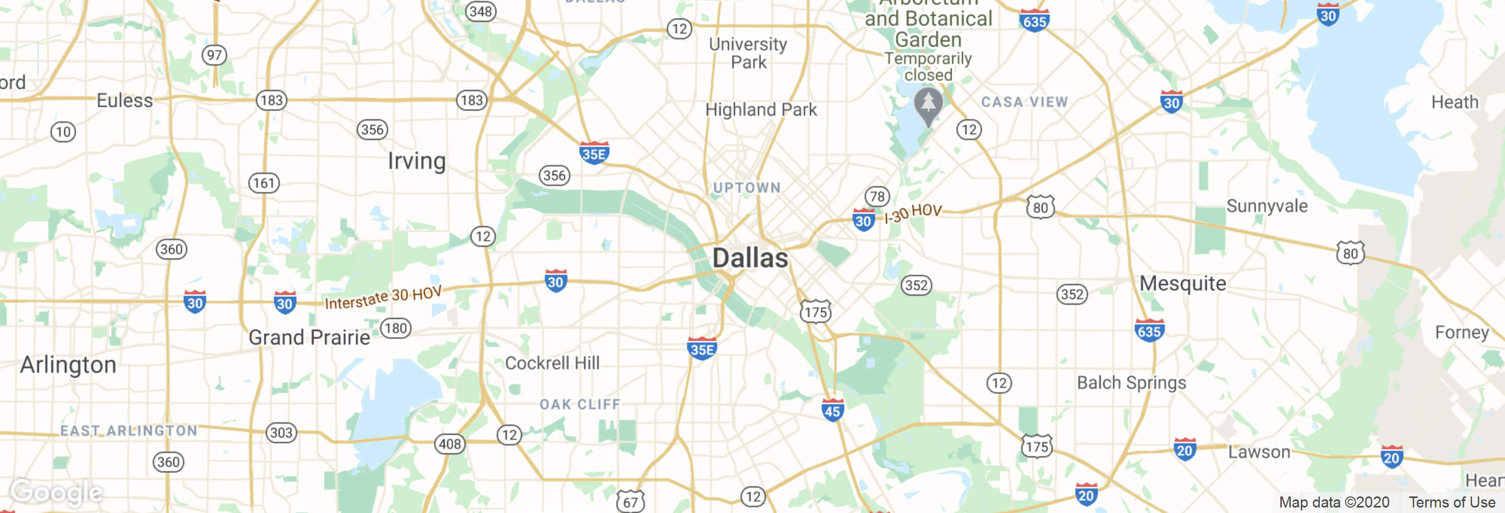 Dallas city map