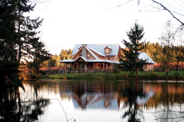 Dream deferred an appalachian style log home in for Www loghome com