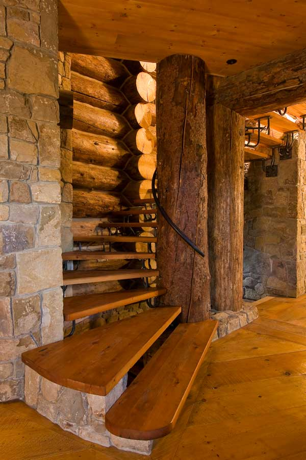 homes basement stairs dream house log cabins log cabin interior