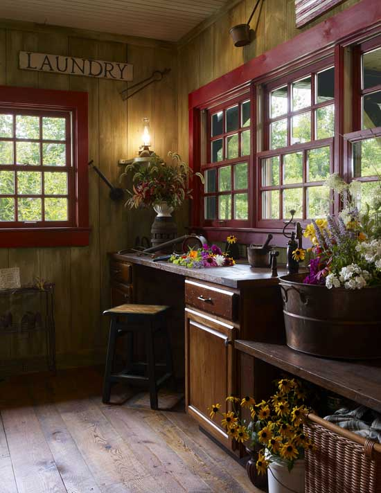 Log home laundry room
