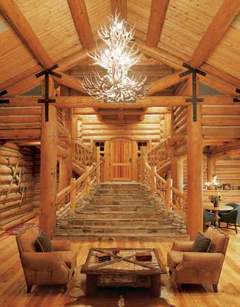 Superbe Log Home Living