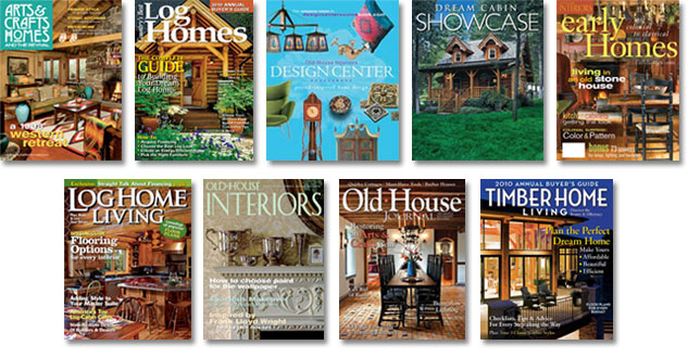 Contents contributed and discussions participated by eric for Log homes magazine
