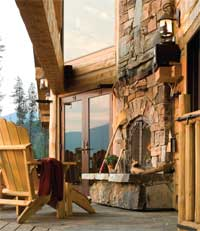 A Handcrafted Mountain Retreat - Outside Porch