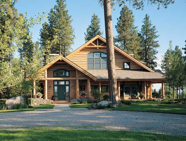 Alpine log homes glacier view log home for Alpine home designs