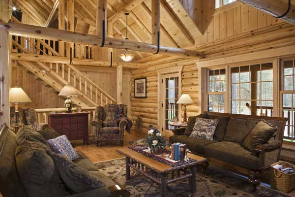 Dream Home On Pinterest Log Home Interiors Log Homes And Log Cabins