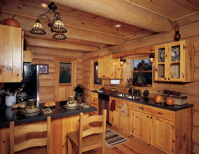 LOG CABIN KITCHEN DESIGNS - KITCHEN DESIGN PHOTOS