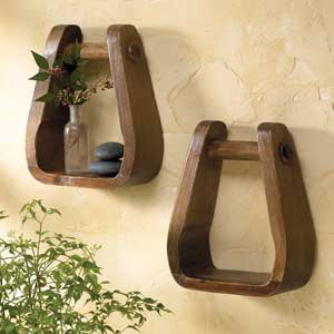 stirrup shelf - Cowboy Decor