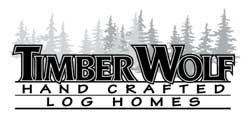 Timber Wolf Handcrafted Log Homes Logo