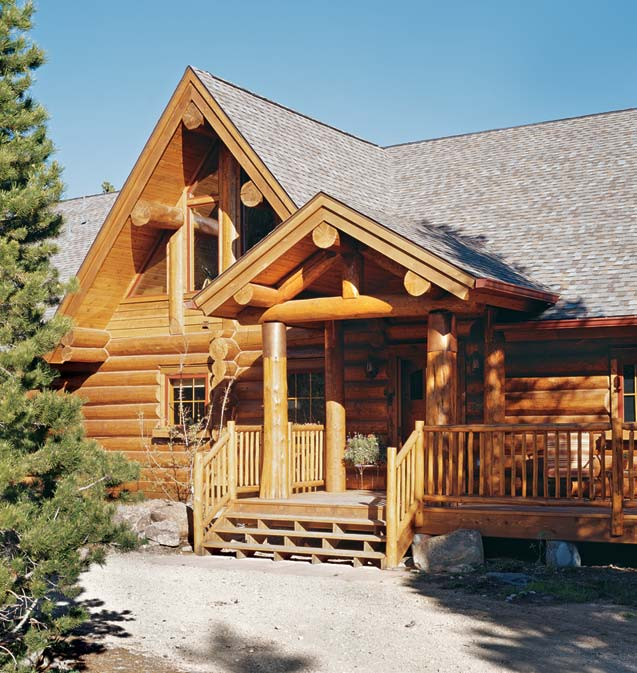 Mountain State Log Homes built this Secluded Log Cabin