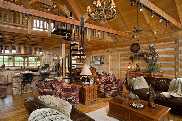 Hunting cabin photos honest abe log homes www for Hunting cabin interior designs