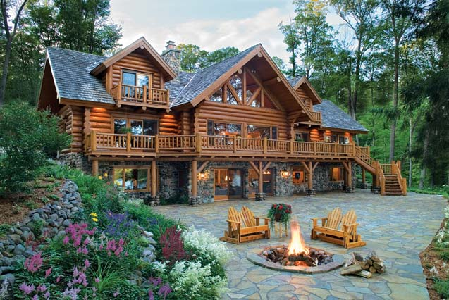 Old-Fashioned Log Cabin Home