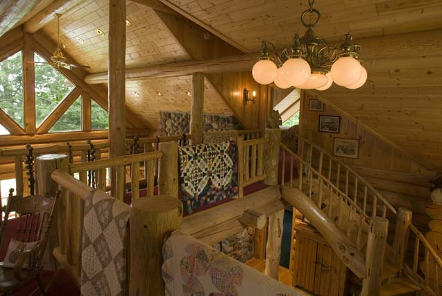 Catwalk in the Cabin Loft Area