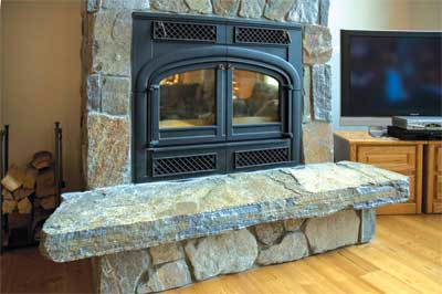 Fireplace facing
