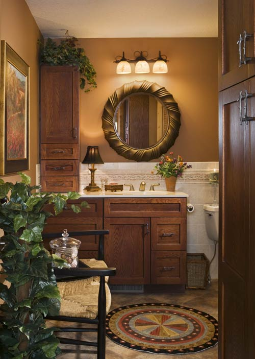 Log Home Bathroom | Expedition Log Homes