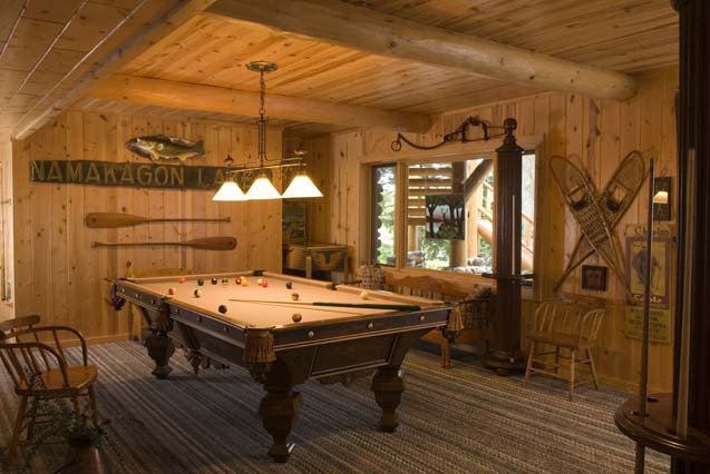 Cabin Rec Room with Pool Table