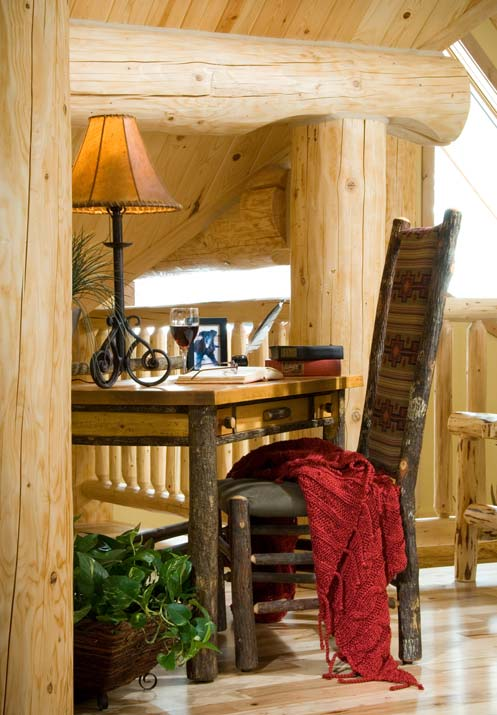 log home nook