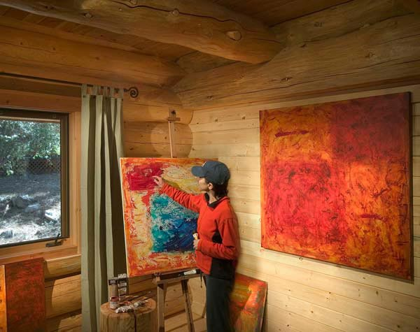 painting in the cabin
