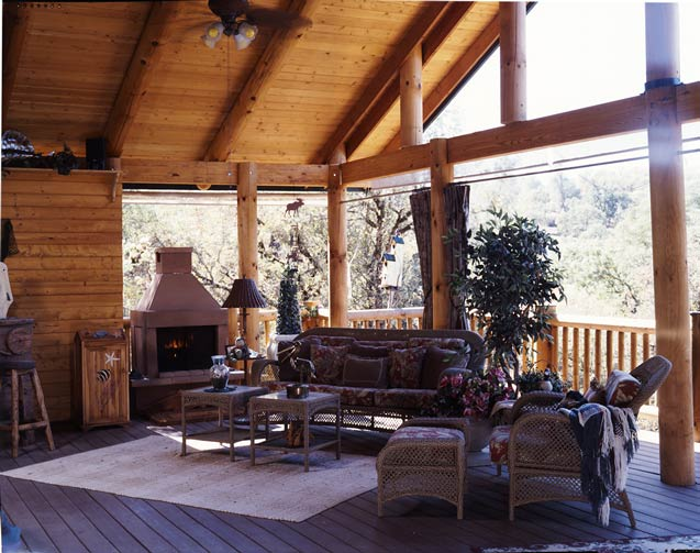 Cottage-Style Cabin Porch