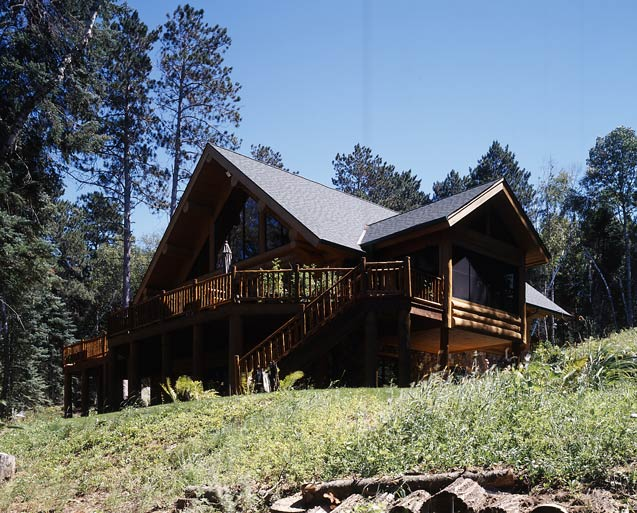 Exterior Log Home Photo