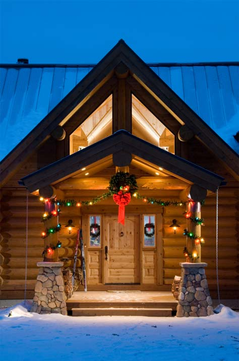 christmas log home