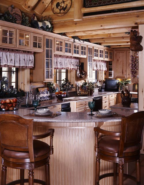 Photos Of A Creekside Log Home Striking It Rich Heritage Log Homes