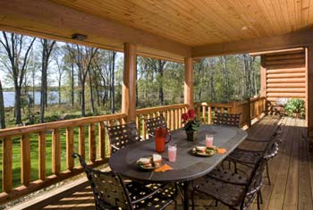 outdoor living spaces for log homes