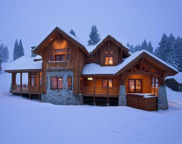 ski lodge photos produced by precisioncraft log homes. Black Bedroom Furniture Sets. Home Design Ideas