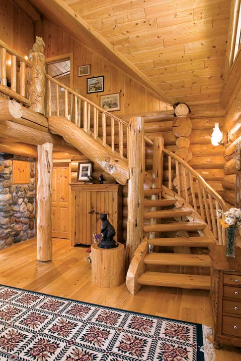 Log Stairway and Landing Area