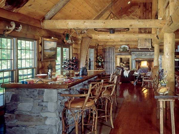 log cabin bar
