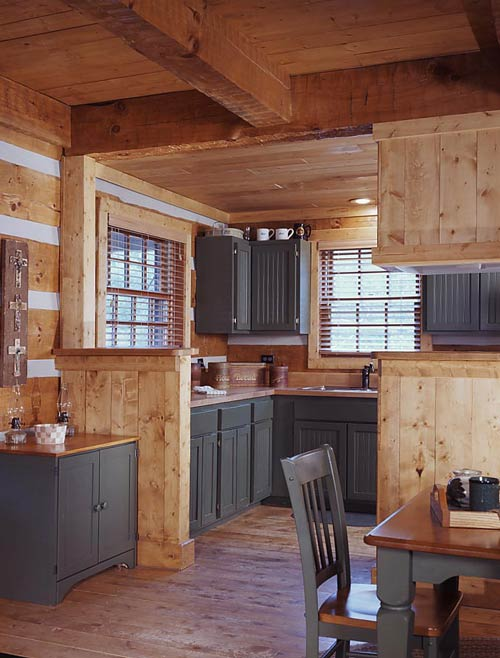 Log Cabin Kitchen Hearthstone Log Homes