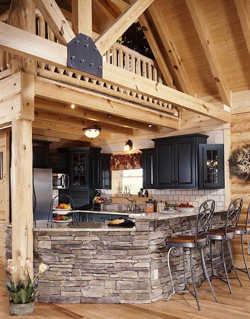Log Home Kitchen