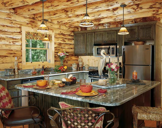 Photos of a Waterfront Log Home | Homecoming Weekend | Country Log ...