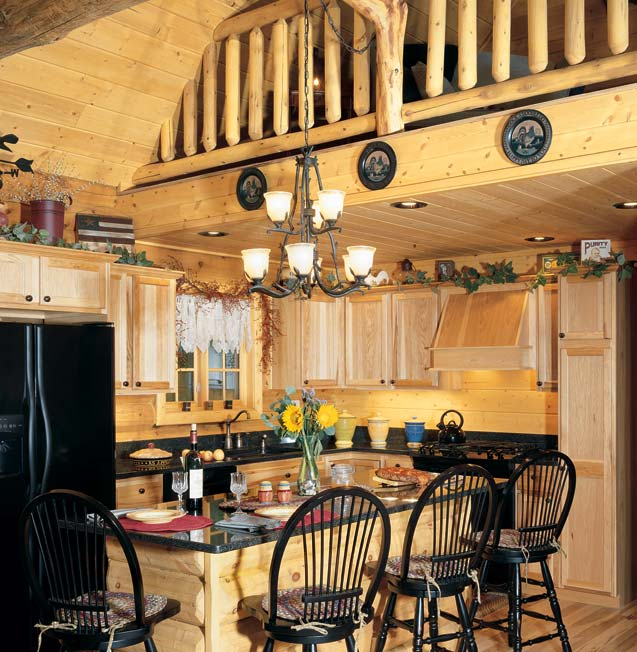 Quaint Log Cabin Kitchen | Rich Frutchey Photo