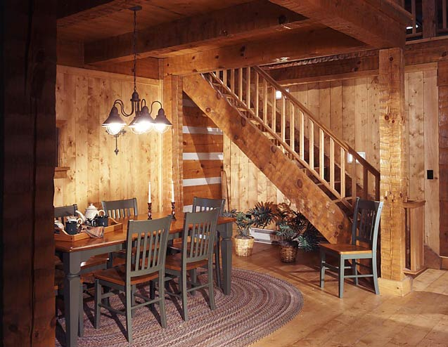 Deluxe dining on pinterest log homes log cabins and for Www loghome com