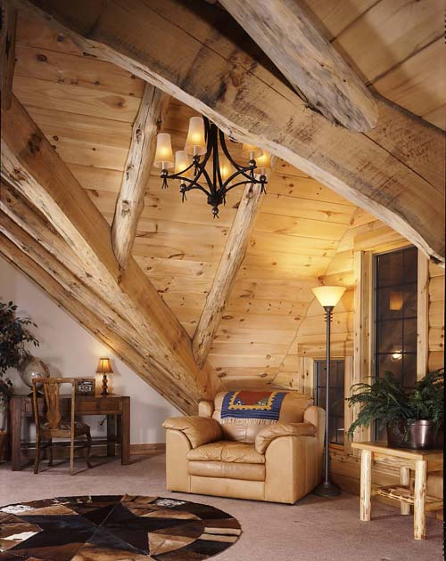 nook in a log home