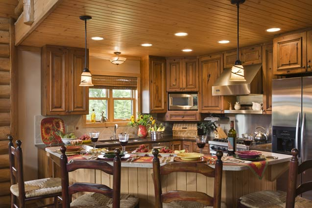 Kitchen/ Dining Area | Expedition Log Homes