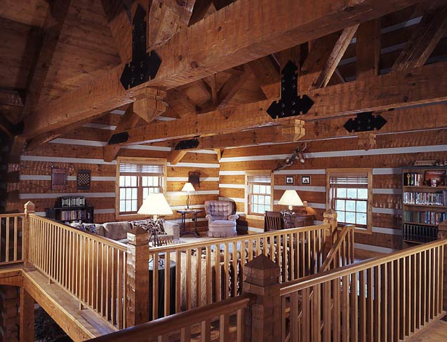 Loft in Log Home