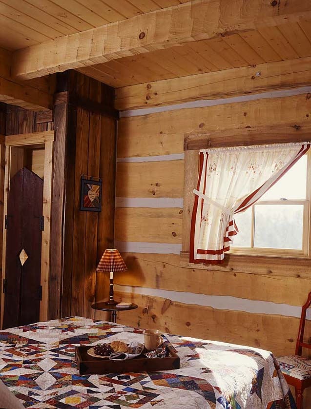 tiny cabin bedroom
