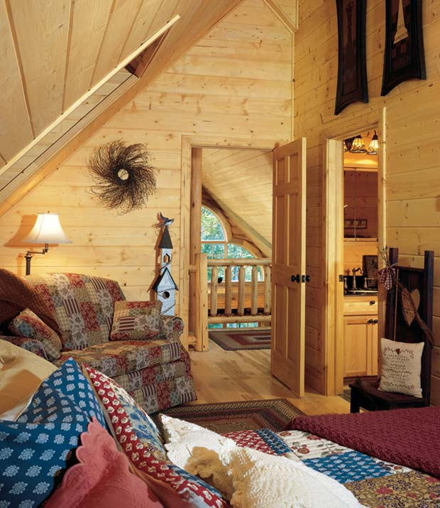 Log Cabin Bedroom