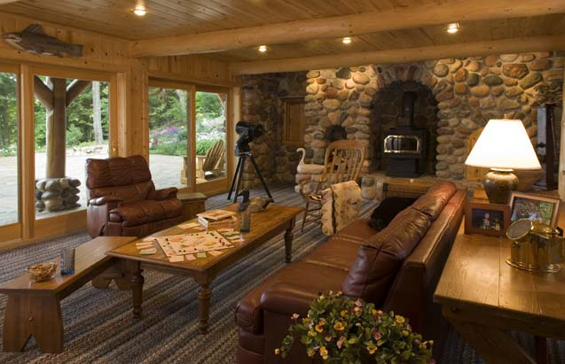 Photos of an old fashioned log home for Wide open country cabins
