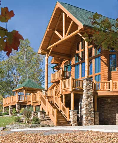 October 2006 Log Home Living Cover Home