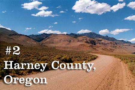#2 Harney County, Oregon